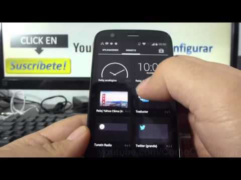 como configurar widget clima android KitKat Motorola moto g X T1032 comoconfigurar