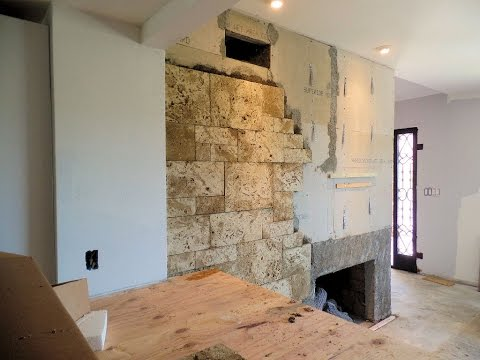 Covering A Fireplace with Stone Veneer Eldorado Stone
