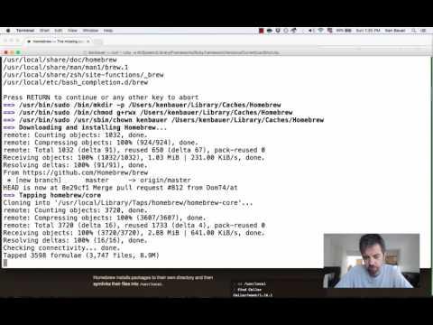 Install Homebrew and Python3 Mac OS X