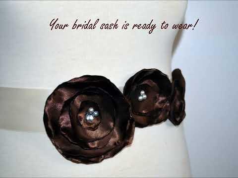 Margaux Online Crafts: DIY Poppy Flower Bridal Sash Tutorial