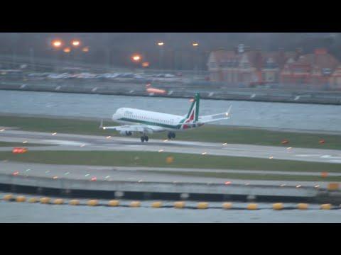 Terrifying landing during storm Imogen for Flight AZ222 Milan to London City Airport
