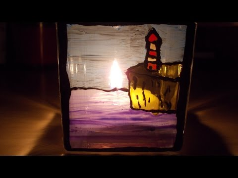 Lighthouse - glass painting
