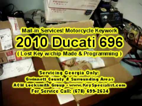 2010 Ducati Monster 696 - Lost Key Made & Chip Programming. Using our Mail-in Services.