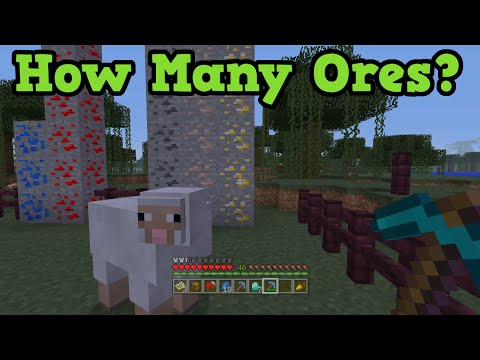 Minecraft Xbox 360 + PS3 How Many Ores In a Minecraft World?