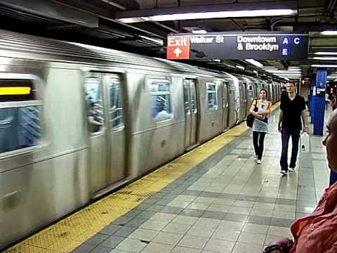 Blue Line Subway at Central Park NYC