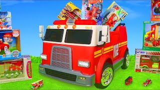 Le Pompier jouets - Camion de pompier jouets - Véhicules jouets pour enfants  Fireman Toys for kids