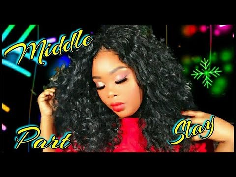 💋BIG FULL CURLY MIDDLE PART QUICK WEAVE