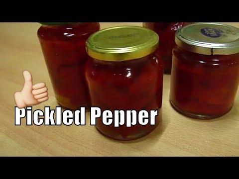 Red Bell Pepper Pickled Pepper in Oil Recipe Yummy!