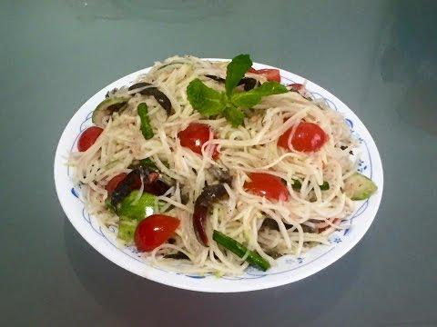 Papaya salad | Gỏi đu đủ ba khía