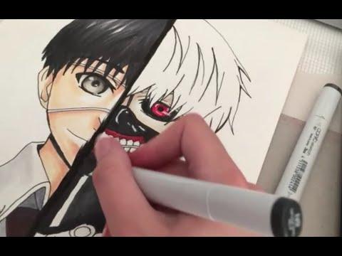 Drawing Kaneki Ken from TOKYO GHOUL