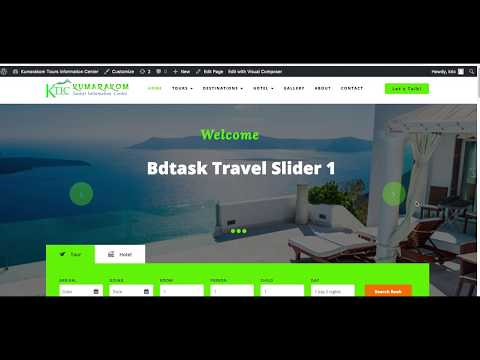 How to change the slider Background image of travel tour WordPress Theme