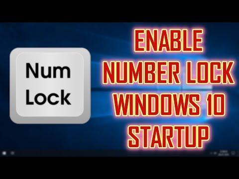 ENABLE NUM LOCK ON STARTUP | 1-MINUTE TIPS | WINDOWS 10 TIPS & TRICKS
