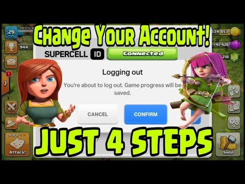 How to Change Multiple Accounts With Supercell ID | Just 4 Steps | Clash of Clans
