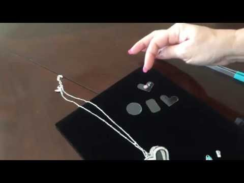How to secure charms using transparency film and glue dots - Heart Locket