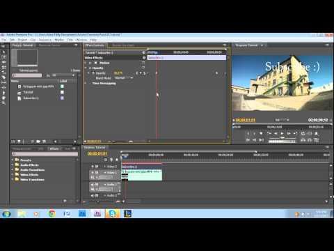 Opacity Key Framing Tutorial - Adobe Premiere Pro