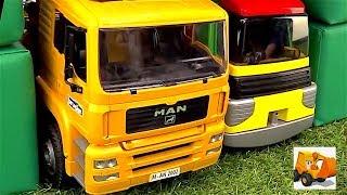 Camiones grandes en español - Coches de juguete - Carritos en TV para niños