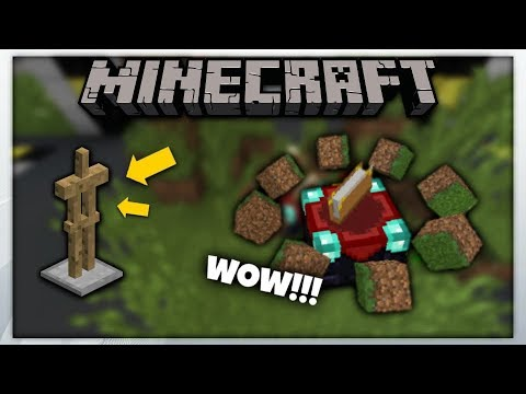 MCPE 1.2 || Floating 3D Block Using Armor Stand || Minecraft Pe