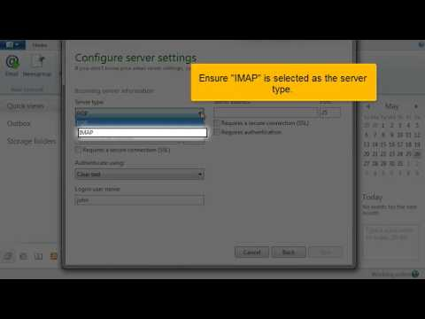 Adding an IMAP email account with SSL in Windows Live Mail