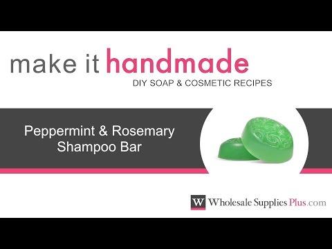 How to Make Peppermint Rosemary Shampoo Bar {Make It Handmade}