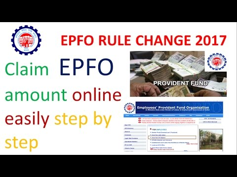 How to claim transfer(withdrawal) Provident Fund PF amount online process directly in bank account