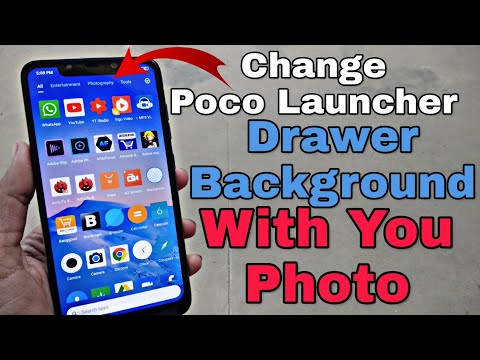 Change Poco Launcher Drawer Background With Your Photo