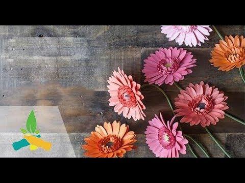 How to make paper Gerbera flower | DIY Tutorial