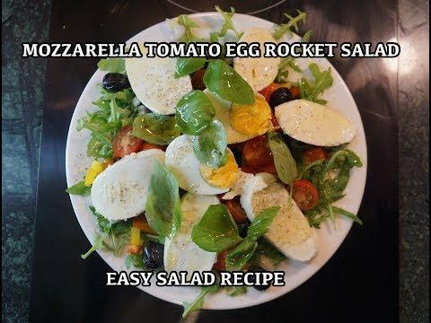 Salad Ideas 1 - Rocket Egg Mozzarella Tomato Recipe - Simple Salad Recipes