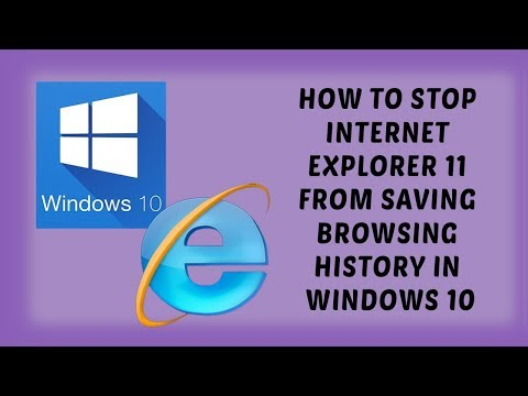 How to STOP Internet Explorer 11 from Saving Browsing History in Windows 10 | Tutorials In Hindi