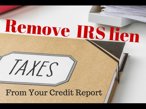 Remove an IRS tax lien before paying it off