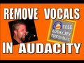 How To Remove Vocals From A Song In Audacity Keep The Low En