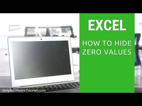 Tutorial: How to Hide Zero Values in Excel 2010