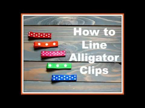 How to Line Alligator Clips for Hair Bows