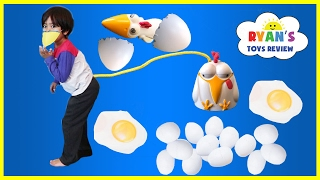 Lay it or Break It game for Kids! Family Fun Game Night! Catch Egg Surprise Toys Children Activities