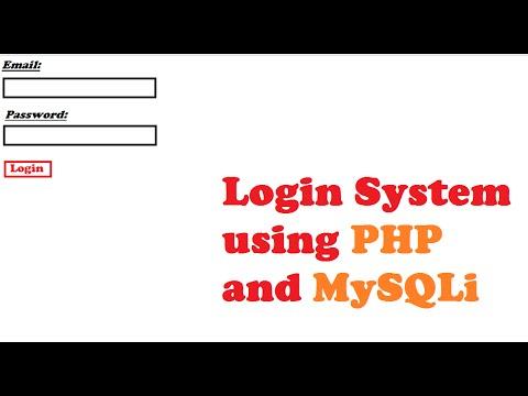 How to make login sytem using PHP and MySQLi