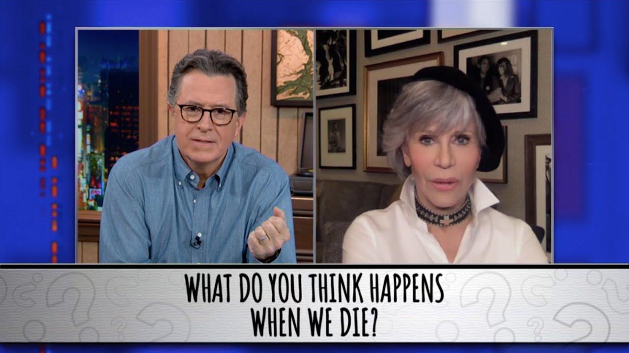 Jane Fonda Takes The Colbert Questionert