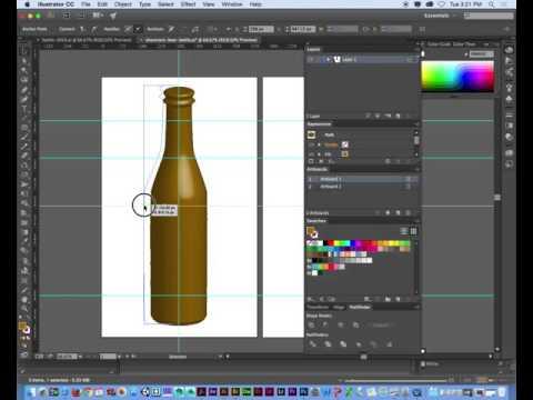 Adobe Illustrator 3D bottle tutorial