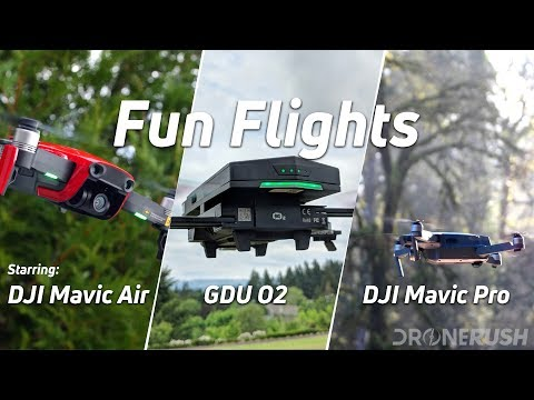 Fun flights with DJI Mavic Air, DJI Mavic Pro and GDU O2