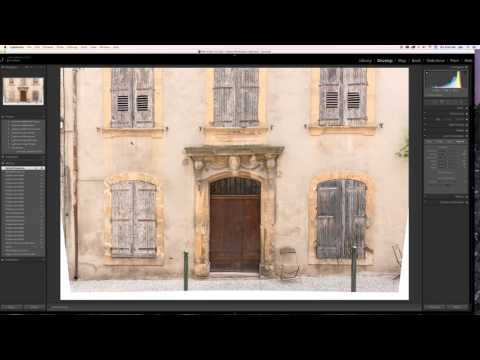 Using Lightroom for correcting vertical lines