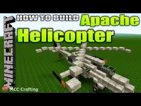 Minecraft How To Build An Apache Attack Helicopter Tutorial PS3/4/Xbox/PC