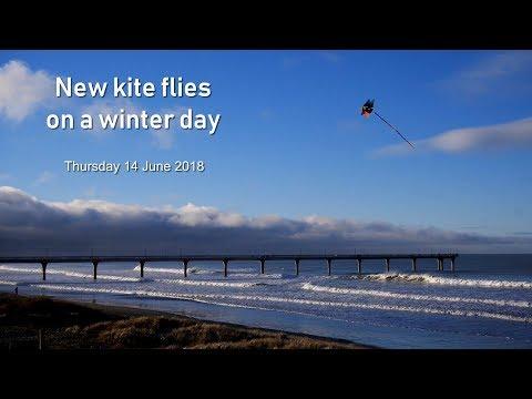 New kite flies on winter day