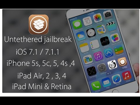 Jailbreak iOS 7.1.2 - 7.1.1 iPhone 5S, 5, 4s, 4 iPad Air, 4, 3, 2, iPad Mini