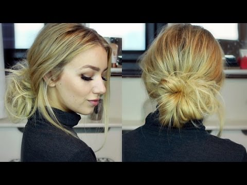 Autumn/winter 2016 trends: Low bun tutorial with hair extensions