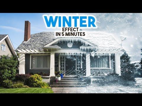 Winter Effect in Photoshop tutorial