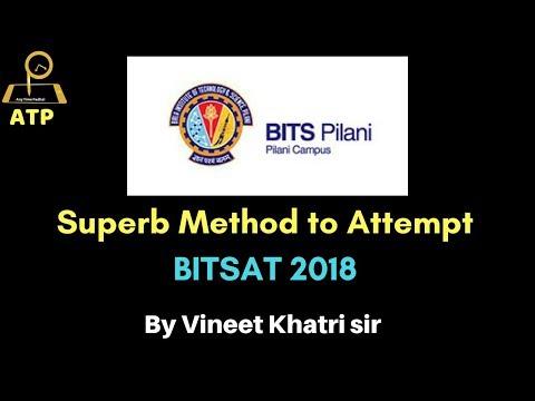 Superb Method to Attempt BITSAT 2018