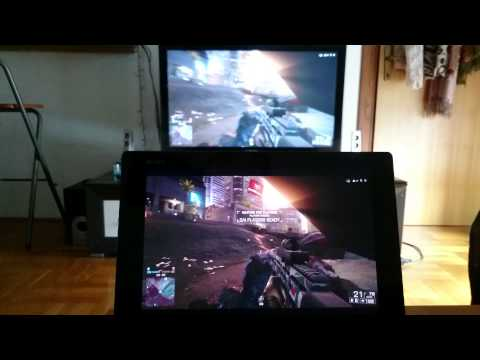 Playstation 4 remote play Battlefield 4 on Xperia Z2 tablet
