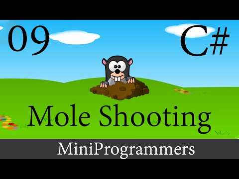 C# Windows Form Application Mole Shooting Complete Game