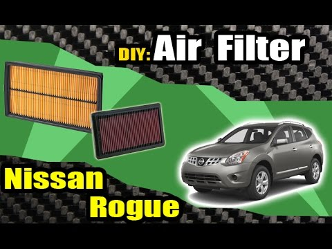08-13 Nissan Rogue Air Filter Check & Replacement