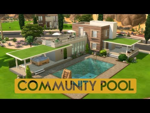 Sims 4 | House Building | Community Pool
