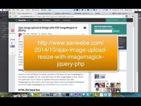Ajax Image Upload and Resize with PHP ImageMagick and jQuery