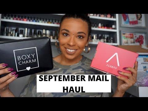 September Mail Haul Ft Boxycharm, Influenster